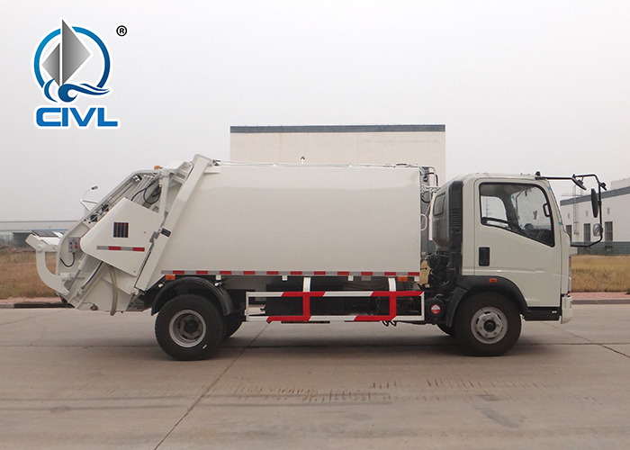 8m3 Compact Garbage Truck With Light Chassis 1
