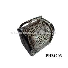 bolso profesional de maquillaje con leopard patrón and4 extraíble las bandejas interior fabricante