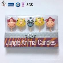 Bougie d'anniversaire de forme animale préférée des enfants