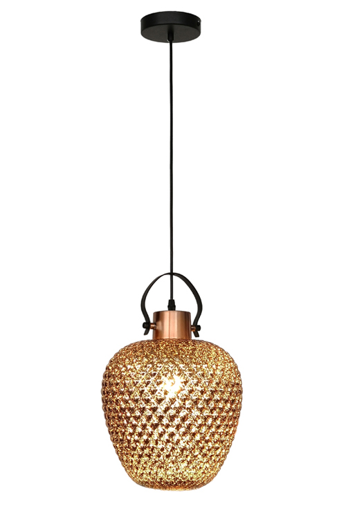 J Rose Golden Ball Chandelier