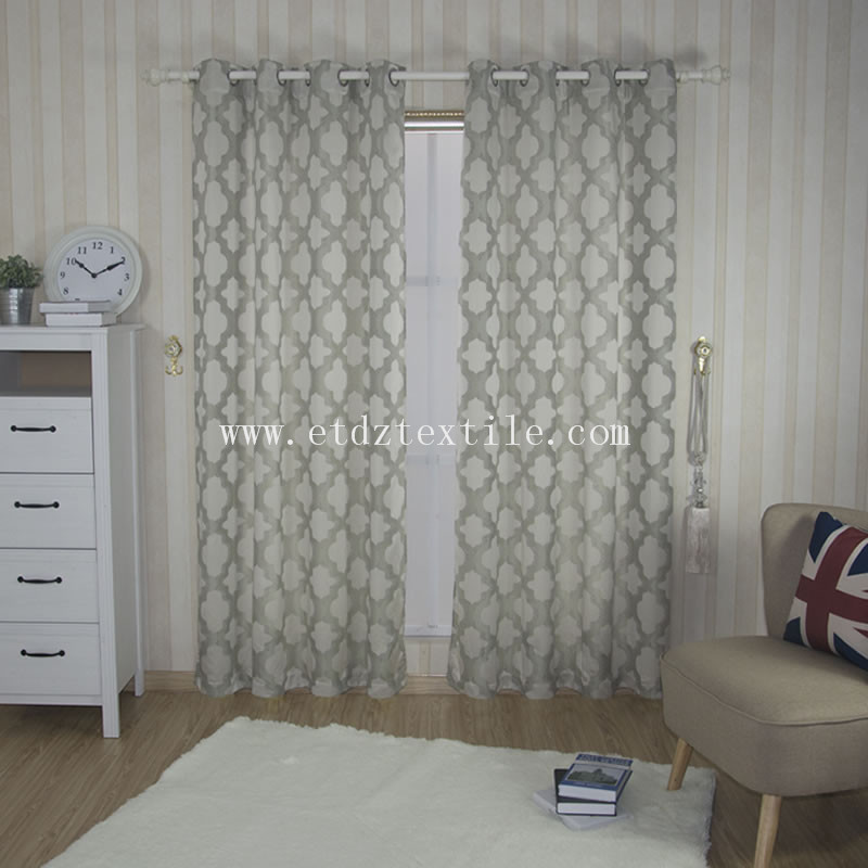 Low Price Polyester Yarn Dyed Jacquard Curtain Fabric