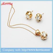 Ensemble de bijoux en or plaqué or 18 carats italien en gros