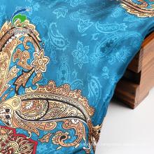 Атласная ткань с вращающимся принтом и тусклым спандексом 50D