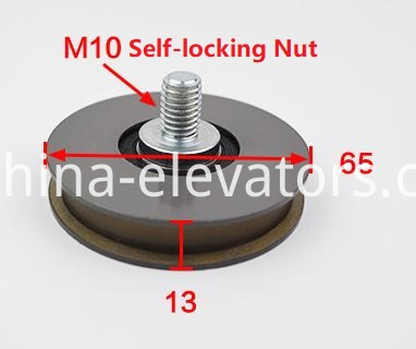 Hitachi Lift Door Hanger Roller 65*13*6202 With M10 Self-locking Nut