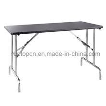 201 прямоугольник из нержавеющей стали офисный стол с Меламиновой рабочего стола (СП-FT312)