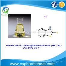 Sel de sodium de 2-Mercaptobenzothiazole, CAS 2492-26-4, MBT-Na pour inhibiteur de corrosion