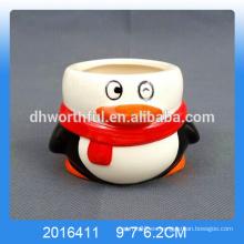 Decorativo pingüino en forma de tazas de helado de cerámica para la venta al por mayor