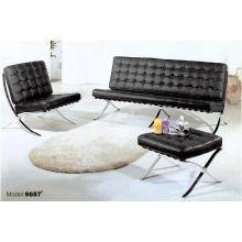 Conception contemporaine Diverses couleurs Réception Premium Sofa en cuir Set pour la vente en gros