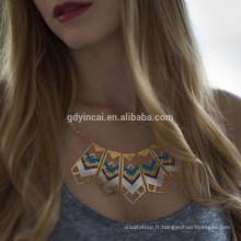 Autocollant sexy métallique de tatouage de ruban d'or pour des filles