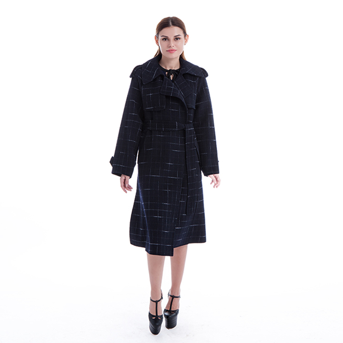 New styles blue cashmere winter coat