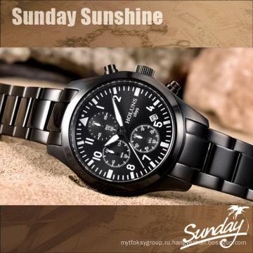 Мужские часы с кварцевыми часами Мужчины Relogio Masculino Мужские часы Лучшие бренды Роскошные мужские часы Военный летчик Наручные часы