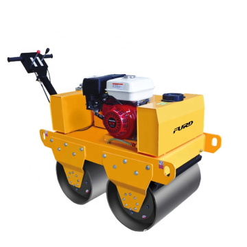 Double Drum Vibrating Mini Manual Road Roller Machine