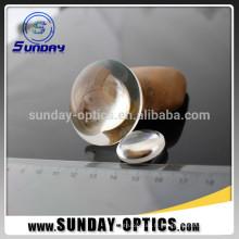 dia 25.4mm longueur focale 75mm BK7 lentilles optiques biconvexes