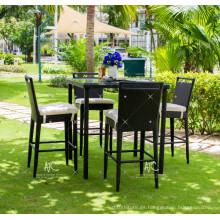 Hot Trendy Splendid Diseño Poly sintético Rattan Bar Set para jardín al aire libre Muebles de mimbre Patio