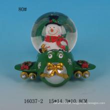 Lovely Santa design globos de neve de resina 80MM atacado