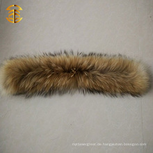 Fabrik Preis Waschbär Pelzkragen für Männer oder Frauen Wintermantel