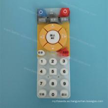 Cojín de botón de goma de silicona de impresión de pantalla de encargo