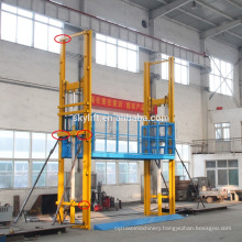 Electric hydraulic outside lift cargo elevator