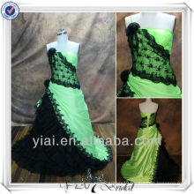 RSE86 Black And Green Ball Gown Formal Evening Dress
