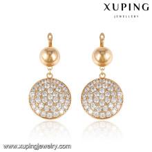 92589 xuping señoras joyería chapado en oro pendientes