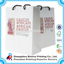 Custom logo printed decorative gift paper bag with handles wholesale Recycle Luxury