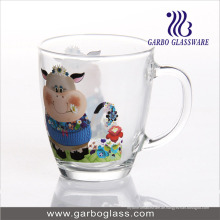 Kundengebundener Entwurfs-Geschenk Mokka-Glasbecher für Kaffee oder Milch