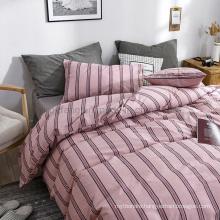 Cheap Price Nordic Style Home Textile Stripe Multi Color Cotton Bed Sheets