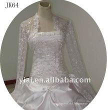 JK64 women Beaded Long sleeves wedding jacket