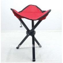 silla plegable de tres patas para la vida de pesca