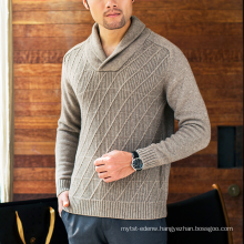 17PKCS101 2017 100% cashmere knit winter thick sweater for man