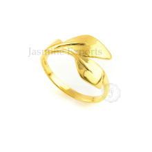 Twined Leaves Micron Gold Plated Over Sterling Silver Ring