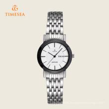 Arbeiten Sie Edelstahl-heiße Verkaufs-Uhr für Damen 71133 um
