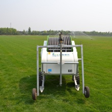Small water hose reel irrigation systems for garden