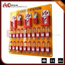 Elecpopular Nuevo Tablero de Etiquetado de Bloqueo Eléctrico Multiusos con 36 Bloqueos Kit / Estación