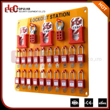 Elecpopular Hot Sale Safety Devices Organic Glass Material 20 Padlocks Lockout Station