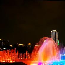 Dessin de conception de fontaine musicale de parc aquatique