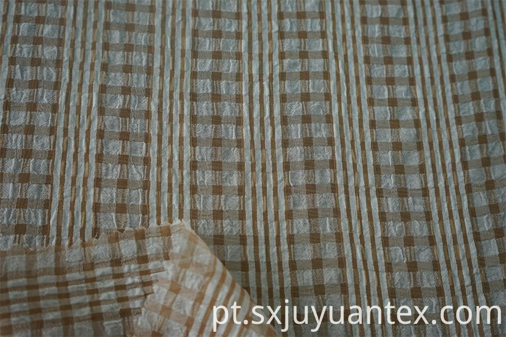 CDC Multi Color Stripe Check Fabric
