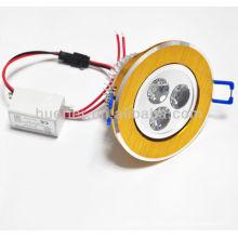 Aluminium 90lm / w led 3W downlight 280lm IP65