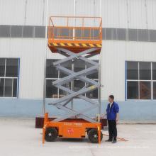 Tijera móvil con pilas elevadora de tijera hidráulica eléctrica