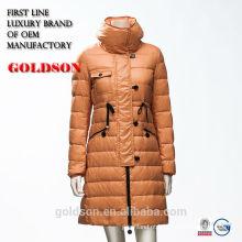 Desenho europeu desabotoado pato para baixo enchendo casaco de inverno feminino 2017