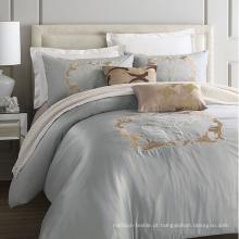Apartamento Hotel 100% algodão luxo bordado Bedding Set