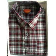 Camisa empresarial de tecido de flanela de algodão