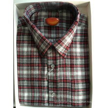 Деловая рубашка из хлопковой фланели