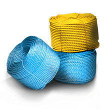High quality colored Polypropylene Split Film 3 Strands Twisted Rope from China factory