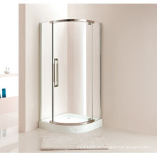 Caja de ducha de vidrio de estilo simple con bandeja (P12)