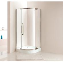 Caixa de chuveiro de vidro estilo simples com bandeja (P12)