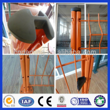 DM high quality best price metal wire welded bending 3D fence with peach post from Anping for sale