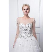 Perlenhülsen Mieder nehmen paypal Tule Hochzeitskleid an