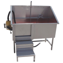 High quality 304 stainless steel pet medical bath sink with mobile door and blower