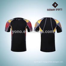 2017 nouveau design sport chemises de compression vierges pour les jeunes hommes